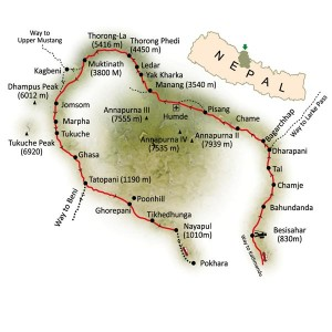 Annapurna-Circuit-Trek-Map