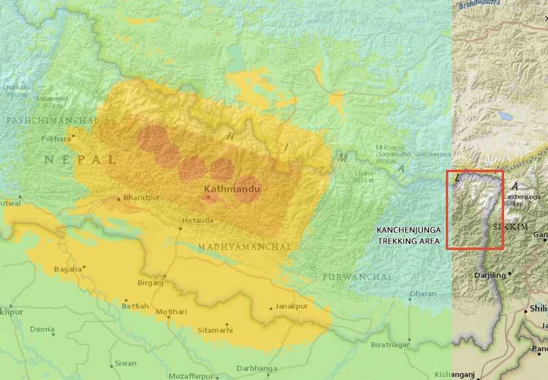 kanchenjunga-shakemap